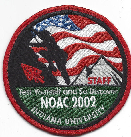 2002 National Order of the Arrow Conference NOAC Indiana University STAFF Patch