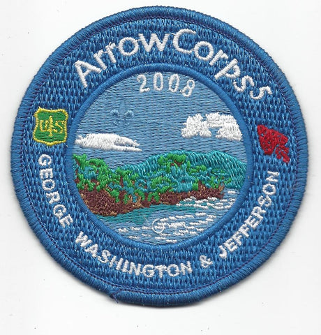 2008 Order of the Arrow Arrowcorps5 George Washington & Jefferson Patch