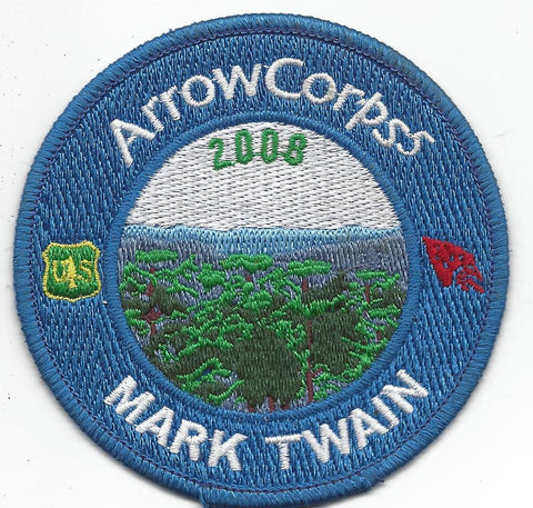 2008 Order of the Arrow Arrowcorps5 Mark Twain Patch