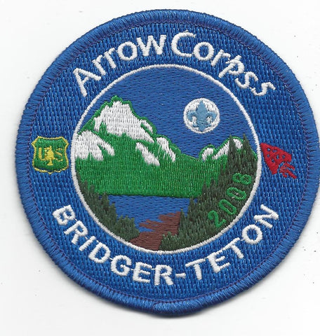 2008 Order of the Arrow Arrowcorps5 Bridger-Teton Patch