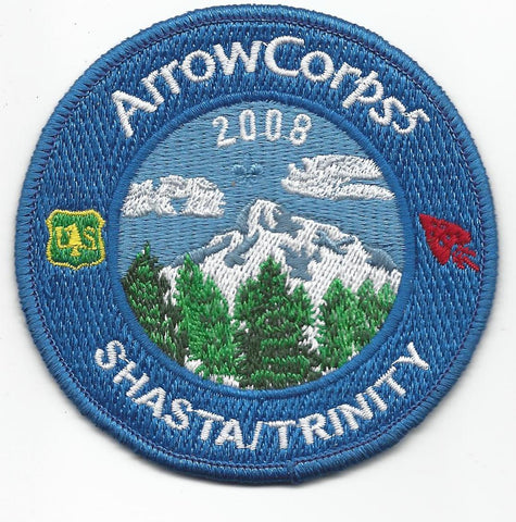 2008 Order of the Arrow Arrowcorps5 Shasta/Trinity Patch [IL248]