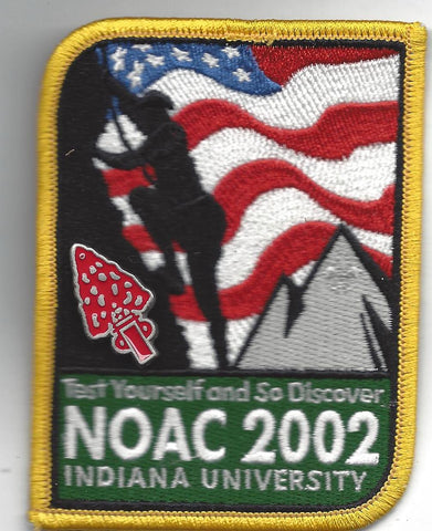 2002 National Order of the Arrow Conference NOAC Patch w/ Participation Pin