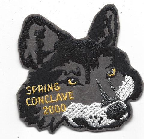 OA Lodge # 23 Wenasa Quenhotan 2000 Spring Conclave Piece To Year Set Patch W. D. Boyce  [IL258]