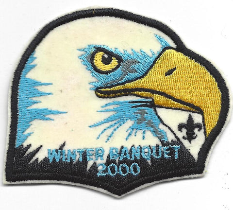 OA Lodge # 23 Wenasa Quenhotan 2000 Winter Banquet Piece To Year Set Patch W. D. Boyce  [IL259]