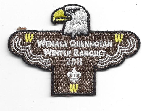 OA Lodge # 23 Wenasa Quenhotan 2011 Winter Banquet Patch W. D. Boyce  [IL263]