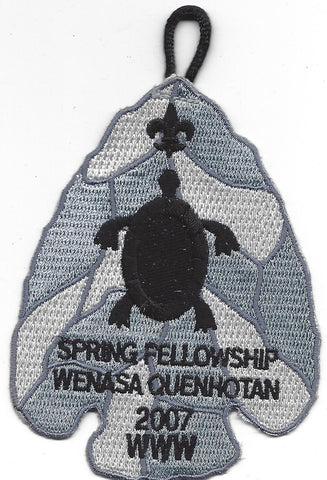 OA Lodge # 23 Wenasa Quenhotan 2007 Spring Fellowship Conclave Patch W. D. Boyce Council
