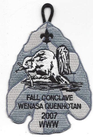 OA Lodge # 23 Wenasa Quenhotan 2007 Fall Conclave Patch W. D. Boyce  [IL270]