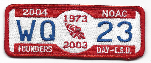 OA Lodge # 23 Wenasa Quenhotan 2004 Founders Day Patch W. D. Boyce  [IL280]