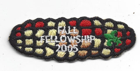 OA Lodge # 23 Wenasa Quenhotan 2005 Fall Fellowship Patch W. D. Boyce Council