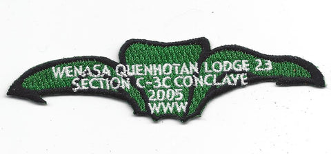 OA Lodge # 23 Wenasa Quenhotan 2005 Section C-3 Conclave Patch W. D. Boyce Council