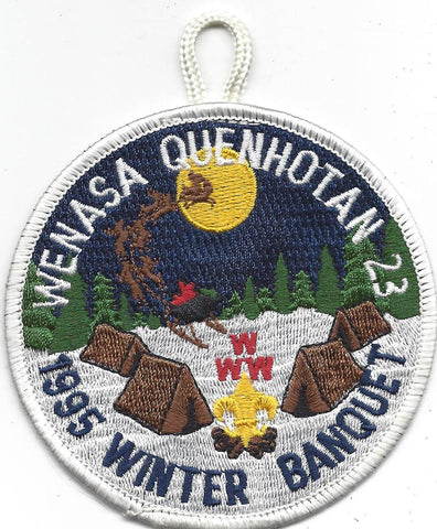 OA Lodge # 23 Wenasa Quenhotan 1995 Winter Banquet Patch W. D. Boyce Council