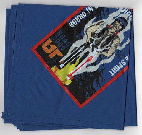 2000 National Order of the Arrow Conference Silk Screened Neckerchief