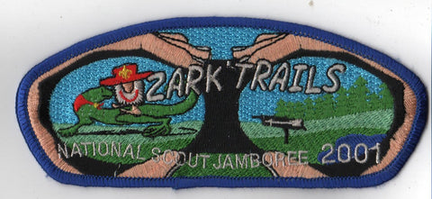 2001 National Scout Jamboree Ozark Trails  Blue Border JSP Patch [IL359]