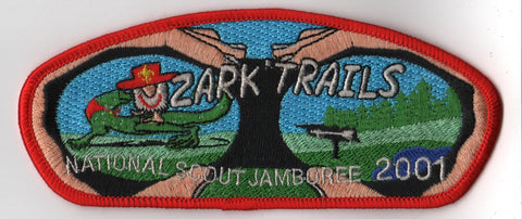 2001 National Scout Jamboree Ozark Trails  Red Border JSP Patch [IL360]
