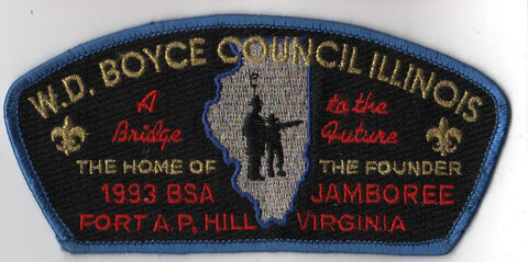 1993 National Scout Jamboree W. D. Boyce  Blue Border JSP Patch (sewn) [IL361]