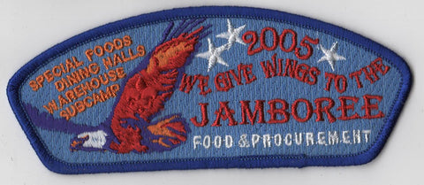 2005 National Scout Jamboree Food & Procurement Staff JSP Patch [IL364]