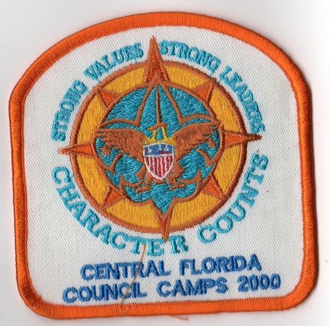 2000 Central Florida Camps Gold Border Patch
