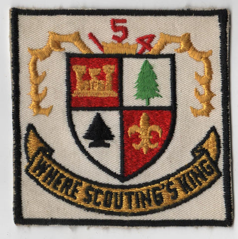 Where Scouting's King 154 Cut-edg Patch [IL389]