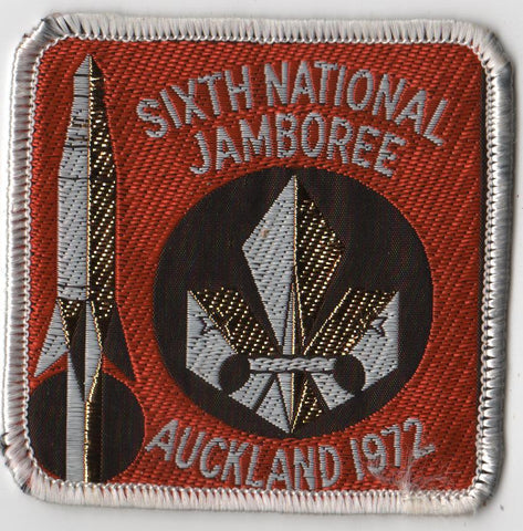 1972 Sixth National Jamboree New Zealand Auckland Woven Patch [IL395]