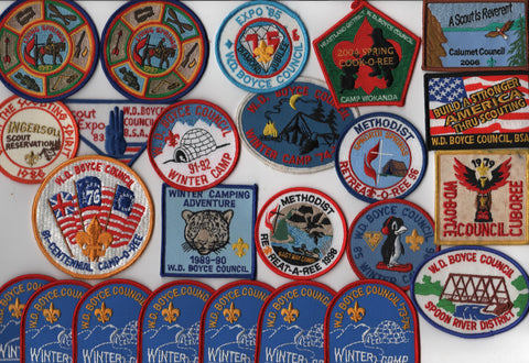 W. D. Boyce  Lot of 24 Activity Patches [IL408]