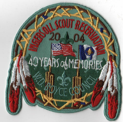 2004 Ingersoll Scout Reservation W. D. Boyce Council Green Border