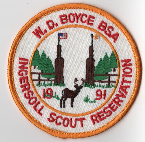 1991 Ingersoll Scout Reservation W. D. Boyce  Yellow Border [IL412]