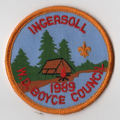 1989 Ingersoll Scout Reservation W. D. Boyce Council Yellow Border