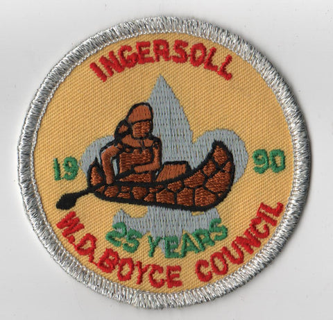 1990 Ingersoll Scout Reservation W. D. Boyce  SMY Border [IL415]
