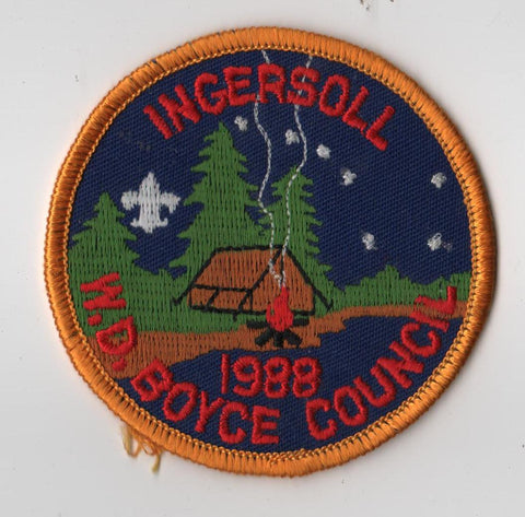 1988 Ingersoll Scout Reservation W. D. Boyce  Gold Border [IL416]