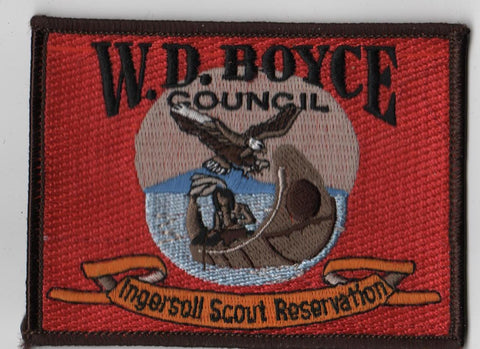 1990s Ingersoll Scout Reservation W. D. Boyce  Black Border [IL417]