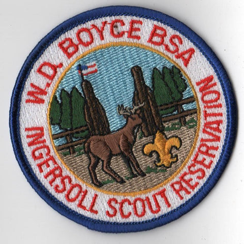 1990s Ingersoll Scout Reservation W. D. Boyce Council Blue Border