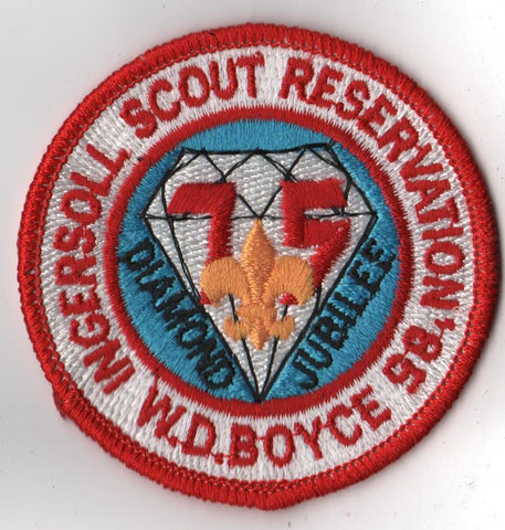 1985 Ingersoll Scout Reservation W. D. Boyce Council Red Border