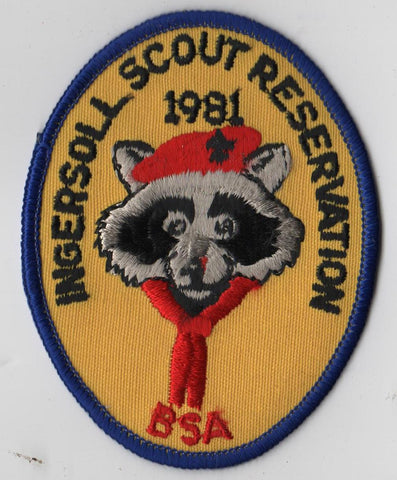 1981 Ingersoll Scout Reservation W. D. Boyce  Blue Border [IL424]