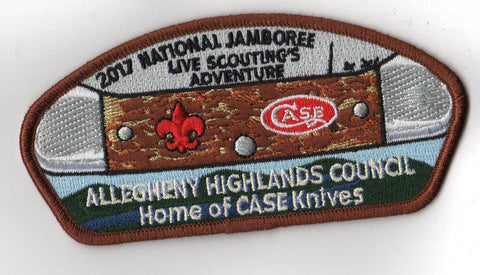 2017 National Scout Jamboree Allegheny Highlands Council Brown JSP [C3142] - Scout Patch HQ
