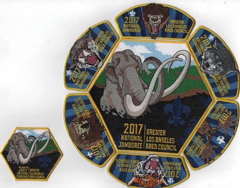 2017 National Scout Jamboree Greater Los Angeles Area 8pc. JSP Set [C3170] - Scout Patch HQ