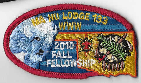 OA Lodge #133 Ma-Nu; 2010 Fall Fellowship; red [OAP1017]