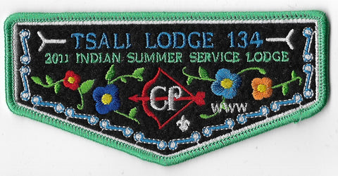 OA Lodge #134 Tsali F-3 flap; 2011 Indian Summer Service Lodge