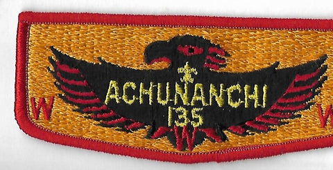 OA Lodge #135 Achunanchi S-19 flap; PB