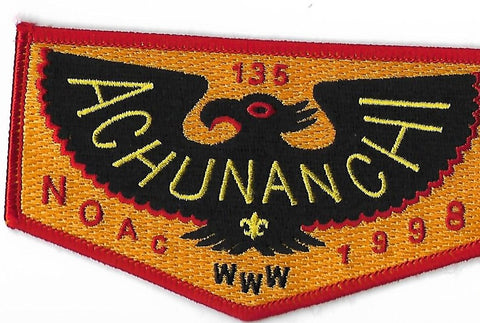 OA Lodge #135 Achunanchi S-40 flap; 1998 NOAC
