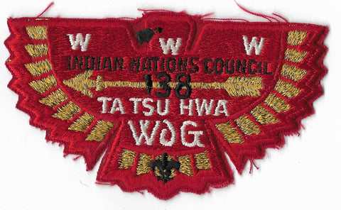 OA Lodge #138 Ta Tsu Hwa S-33 flap; Brotherhood [OAP1081]