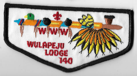 OA Lodge #140 Wulapeju F-1 flap; PB