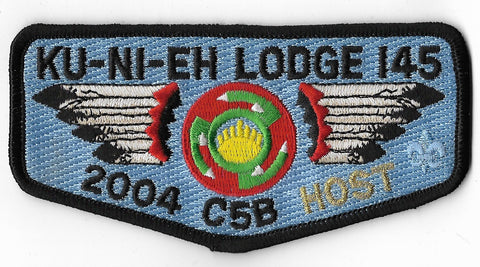 OA Lodge #145 Ku-Ni-Eh s-58 flap; 2004 C-5B Host [OAP1132]