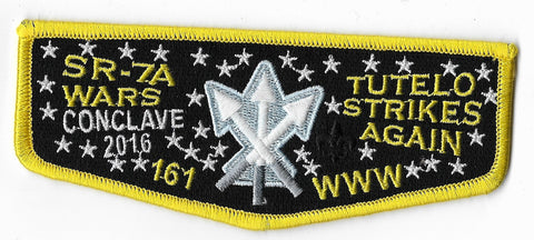 OA Lodge #161 Tutelo 2016 SR-7A flap; yellow
