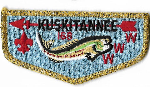 OA Lodge #168 Kuskitannee S-6 flap; 50th Anniversary