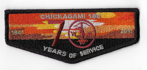 OA Lodge #180 Chickagami S-24 flap; 2011 - 70th Anniversary [OAP1273]