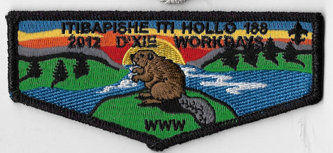 OA Lodge #188 Iti Bapishe Iti Hollo S-78 flap; 2012 Dixie Workdays