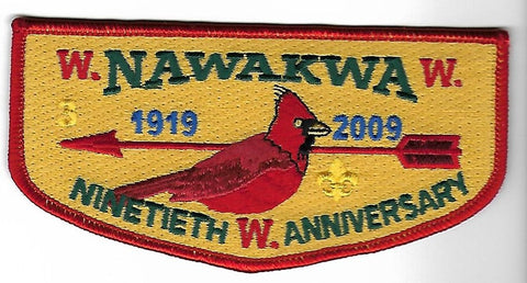 OA Lodge # 3 Nawakwa Robert E. Lee  S-105 Flap; 2009-90th Anniversary [OAP137]