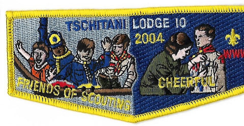 OA Lodge # 10 Tschitani Connecticut Rivers  S-28 Flap; 2004 F.O.S. [OAP187]