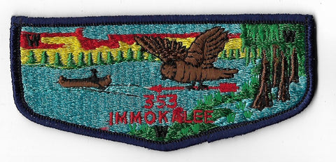 OA Lodge #353 Immokalee Chehaw Council S1 flap; Flying Owl; First Issue