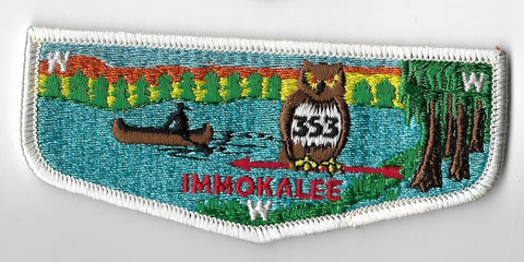 OA Lodge #353 Immokalee Chehaw Council S5 flap